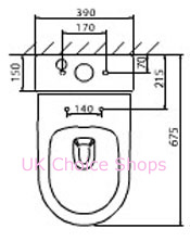 Abacus Vessini Opaz Close-Coupled Toilet - VESW-05-1505.