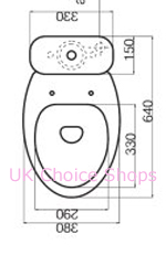 Althea Fly Close-Coupled Toilet - 40022