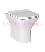 B&Q Lanzo Back-To-Wall Toilet