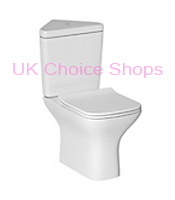 B&Q Lanzo Close Coupled Corner Toilet