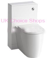 Bath Empire Gloss White Slimline Back-To-Wall Toilet