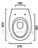 Catalano New Light52 Wall-Mounted Toilet - 1VSLI