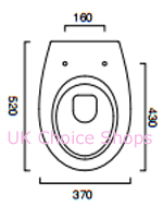 Catalano Velis52 Wall Mounted Toilet - 1VSLI