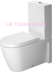 Duravit Starck 2 (New) Close-Coupled Toilet, Elongated - 212909