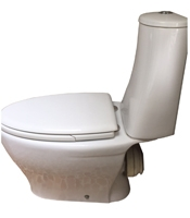 Side view of an Axa Synua toilet