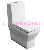 Britton Bathrooms Cube Close Coupled Toilet