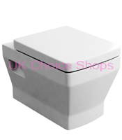 Britton Bathrooms Cube Wall Mounted Toilet
