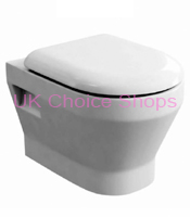 Britton Bathrooms Curve Wall Mounted Toilet