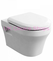 Britton Bathrooms Fine Wall Mounted Toilet