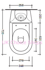 Flaminia Relax Close-Coupled Toilet - 1002 - 1001