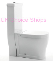 Bauhaus Status Round Close Coupled Toilet SR6007CW.