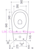 Ben De Lisi Young Close-Coupled Toilet -